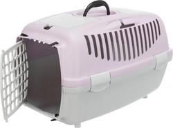 Trixie - Trixie Pet Taşıma Çantası XS - S, 37 x 34 x 55 cm, Açık Gri / Açık Lila