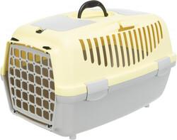Trixie - Trixie Pet Taşıma Çantası XS - S, 37 x 34 x 55 cm, Açık Gri / Sarı