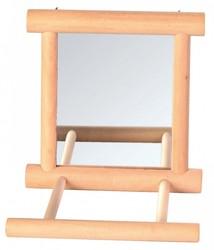 Trixie - Trixie Ahşap Zilli Tünekli Kuş Aynası 9x9 Cm