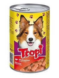 Tropi - Tropi Biftekli Yetişkin Köpek Konservesi 415 Gr