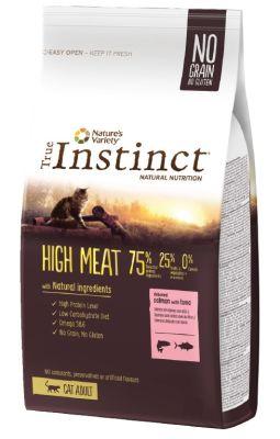 True Instinct High Meat Adult Somonlu Tahılsız Kedi Maması 7 Kg+5 Adet Temizlik Mendili