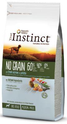 True Instinct No Grain Adult Medium/Maxi Somonlu Tahılsız Yetişkin Köpek Maması 12 Kg