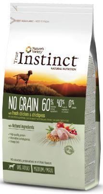 True Instinct No Grain Adult Medium/Maxi Tavuklu Tahılsız Yetişkin Köpek Maması 12 Kg