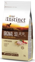 True Instinct - True Instinct Original Adult Medium/Maxi Tavuklu Yetişkin Köpek Maması 2 Kg