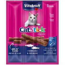 Vitakraft - Vitakraft 24003 Cat Stick Classic Morina ve Deniz Ürünleri Tahılsız Kedi Ödülü 18 Gr ( 6 Gr x 3 Adet )