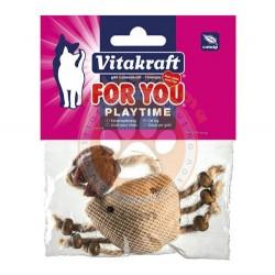 Vitakraft - Vitakraft 28653 Catnip (Kedi Otu) Peluş Yengeç Kedi Oyuncağı