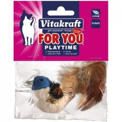 Vitakraft - Vitakraft 28654 Peluş Ördek Tüylü Kedi Oyuncak