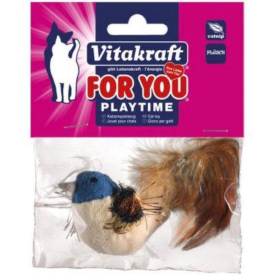 Vitakraft 28654 Peluş Ördek Tüylü Kedi Oyuncak