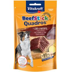 Vitakraft - Vitakraft 28803 Quadros Ciğer ve Patatesli Tahılsız Köpek Ödülü 70 Gr