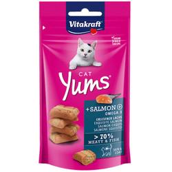 Vitakraft - Vitakraft 28823 Cat Yums Somon ve Omega 3 Kedi Ödülü 40 Gr