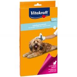 Vitakraft - Vitakraft 30777 Kedi ve Köpek Masaj Temizlik Bakım Eldiveni