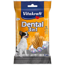 Vitakraft - Vitakraft 30914 Dental 3in1 Diş Sağlığı Köpek Ödülü 70 Gr (7 Sticks)