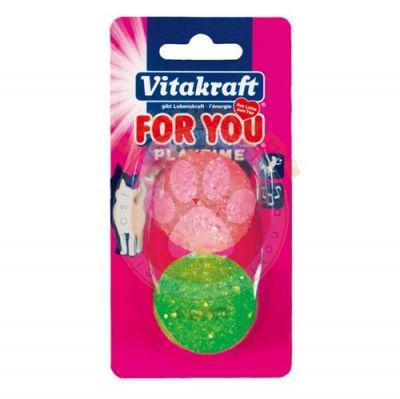 Vitakraft 39894 Sert Plastik Zilli Kedi Oyuncağı 2'li Paket