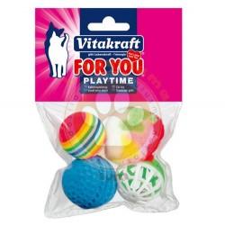 Vitakraft - Vitakraft 39899 Plastik Kedi Oyuncağı ( 4'lü Paket )
