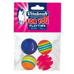 Vitakraft - Vitakraft 39906 Plastik Kedi Oyuncağı (4'lü Paket)