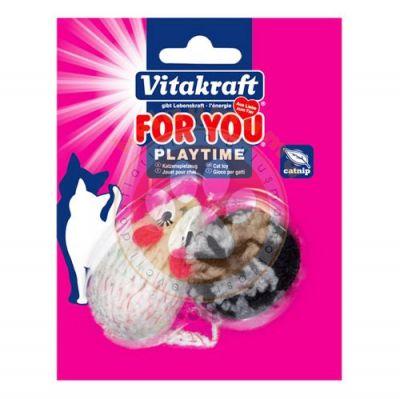 Vitakraft 39908 Catnip ( Kedi Otu ) Fare - Top Kedi Oyuncağı ( 2'li Paket )