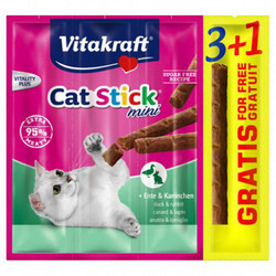 Vitakraft - Vitakraft 89322 Cat Stick Mini Ördek ve Tavşan Kedi Ödülü 24 Gr (6 Grx4 Adet)
