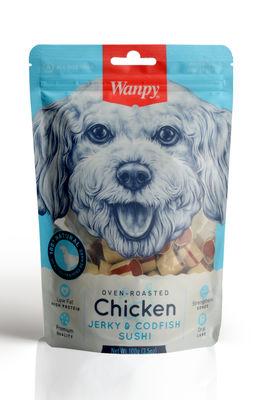 Wanpy Oven Roasted Tavuklu Morina Balıklı Sushi Köpek Ödülü 100 Gr