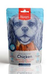 Wanpy - Wanpy Oven Roasted Gerçek Tavuk Kaplamalı Kalsiyum Kemik Köpek Ödülü 100 Gr