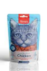 Wanpy - Wanpy Oven Roasted Tavuklu Morina Balıklı Kalp Şekilli Kedi Ödülü 80 Gr