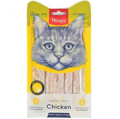 Wanpy Tavuk Etli Likit Creamy Kedi Ödülü 5 x 14 Gr