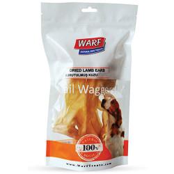 Warf - Warf 6202 Naturel Kurutulmuş Kuzu Kelle Derisi Köpek Ödülü