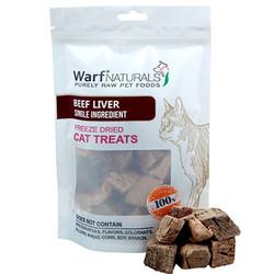 Warf - Warf Naturals Biftek ( Dana ) Ciğeri Kurutulmuş Kedi Ödülü 40 Gr