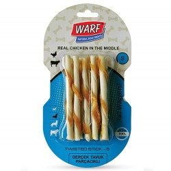 Warf - Warf Tavuk Etli Burgu Köpek Ödül Çubukları (12 Cm - 10'lu Paket)