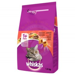 Whiskas - Whiskas Sığır Etli Yetişkin Kedi Maması 1,4 Kg