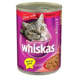 Whiskas - Whiskas Gravy Soslu Sığır Etli Kedi Konservesi 400 Gr