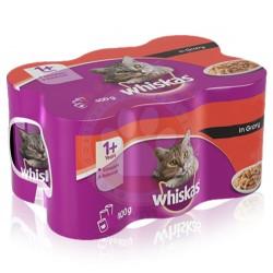 Whiskas - Whiskas Gravy Soslu Sığır Etli Kedi Konservesi 400 Gr-(12 Adetx400 Gr)
