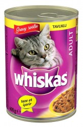 Whiskas - Whiskas Gravy Soslu Tavuk Etli Kedi Konservesi 400 Gr