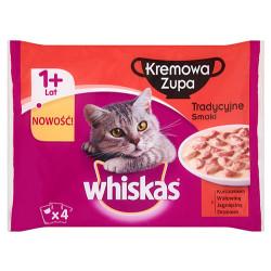 Whiskas - Whiskas Pouch Çorba Klasik Seçenekler Kedi Yaş Maması 4 Adetx85 Gr