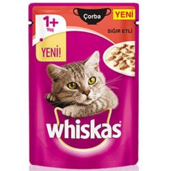 Whiskas - Whiskas Pouch Çorba Sığır Etli Yaş Kedi Maması 85 Gr