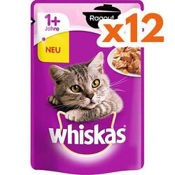 Whiskas - Whiskas Pouch Güveç Somonlu Jöleli Yetişkin Kedi Konservesi 85 Gr - ( 12 Adet x 85 Gr )