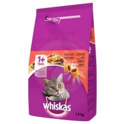 Whiskas - Whiskas Sığır Etli ve Sebzeli Yetişkin Kedi Maması 1,4 Kg