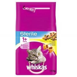 Whiskas - Whiskas Sterile Kısırlaştırılmış Yetişkin Kedi Maması 1,4 Kg
