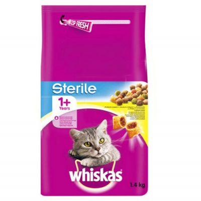 Whiskas Sterile Kısırlaştırılmış Yetişkin Kedi Maması 1,4 Kg