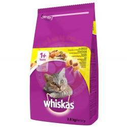 Whiskas - Whiskas Tavuk Etli ve Sebzeli Kedi Maması 3,8 Kg
