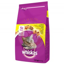 Whiskas - Whiskas Tavuklu ve Sebzeli Kedi Maması 3,8 Kg
