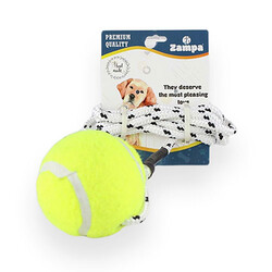 Zampa - Zampa 3280 Köpek Tenis Toplu Oyun İpi 100 Cm
