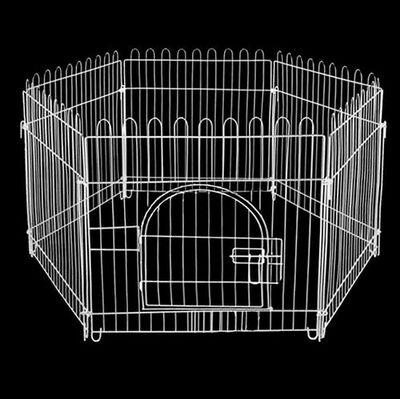 Zampa Beyaz Metal Köpek Çiti 60x55 Cm