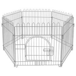 Zampa - Zampa Gri Metal Köpek Çiti 60 x 55 Cm