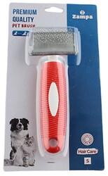 Zampa - Zampa ZT0159 Yumuşak Uçlu Kedi ve Köpek Bakım Fırçası Small 16 x 6 Cm Kırmızı
