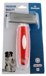 Zampa - Zampa ZT0166 Yumuşak Uçlu Kedi ve Köpek Bakım Fırçası Medium 16 x 9 Cm Kırmızı
