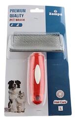 Zampa - Zampa ZT0173 Yumuşak Uçlu Kedi ve Köpek Bakım Fırçası Large 16 x 12 Cm Kırmızı