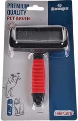 Zampa - Zampa ZT0753 Kedi ve Köpek Fırçası Medium 14 x 9 Cm Kırmızı