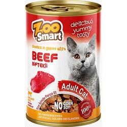 Zoo Smart - Zoo Smart Beef Biftekli Parça Etli ve Soslu Kedi Konservesi 400 Gr