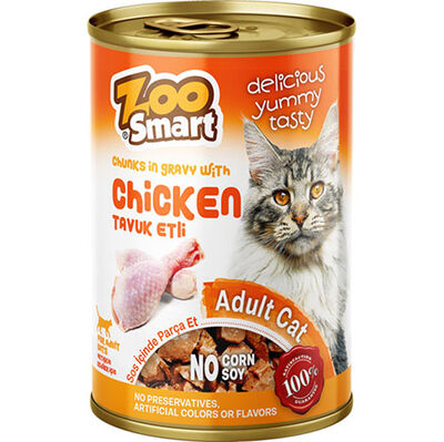 Zoo Smart Chicken Tavuk Etli Parça Etli ve Soslu Kedi Konservesi 400 Gr