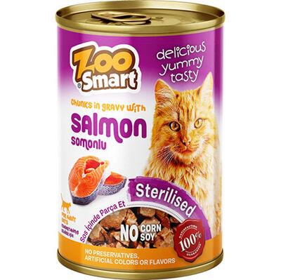 Zoo Smart Salmon Sterilised Somonlu Kısırlaştırılmış Kedi Konservesi 400 Gr